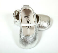 """Old Soles """"luxe Ballet"""" ARGENT Chaussures [Taille: 23 Euro/18 - 21 Mois]"""