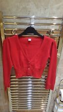 Lovely girls long sleeve red cardigan with red sequins from TU. Size 10 years.