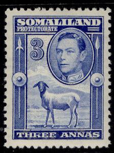 SOMALILAND PROTECTORATE GVI SG96, 3a bright blue, M MINT. Cat £18.