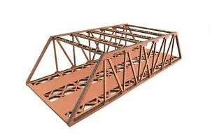 WWS Double Track Hi-Detail Red MDF Girder Bridge 450mm – OO/HO Model Railway