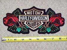 Medium HARLEY DAVIDSON MOTORCYCLES BAR SHIELD ROSE Bling jacket vest purse Patch