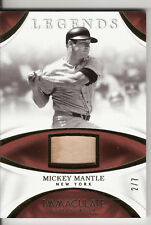 2017 IMMACULATE COLLECTION LEGENDS GAME USED BAT MICKEY MANTLE 2/7 NICE!