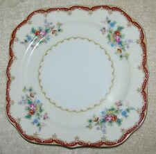 Versailles China (Japan) VE3 Ivory Floral w/ Red Band Gold Trim SALAD PLATE