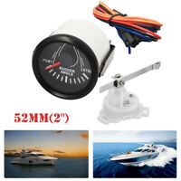 "52MM/2"" Single Rudder Angle Indicator w/ Sender 0-190Ω For Boat Anti-vibration"