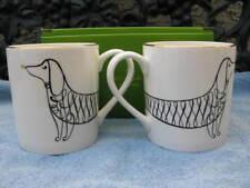 Kate Spade New York/Lenox Porcelain Dachshund Mugs*Set Of 2* New In Box*
