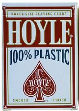 Hoyle 100% Plastic Red Deck Playing Cards SEALED POKER