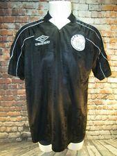 Men's Umbro AFC AJAX Amsterdam Short Sleeve Shirt Soccer Black Vintage