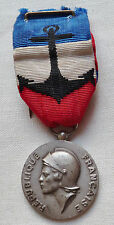 Médaille d'Honneur Marine Nationale ARGENT attribuée 1985 ORIGINAL French medal