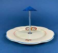 King George VI Queen Elizabeth 1937 Coronation Cake Stand with Handle