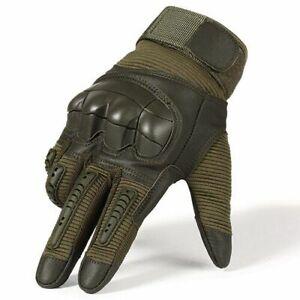 Men's Motorcycle Touchscreen Gloves Motocross Leather Tactical Pit Biker Mitten