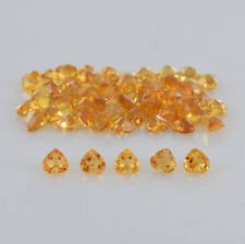 Natural Citrine 5mm Heart Cut 5 Pieces Top Quality Loose Gemstone AU