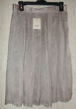 NWT WOMENS Rezen Do SPAIN FORMAL / DRESSY Ash Purple BEIGE LINED SKIRT SIZE L/XL