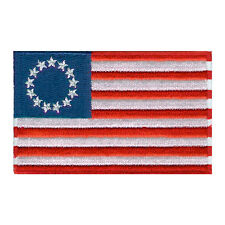 "VEGASBEE® AMERICAN BEST USA BETSY ROSS FLAG US EMBROIDERED PATCH IRON-ON 3"" x 2"""