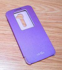 Genuine LG Quick Window Flip Cover Purple Folio Case For LG G2 Cell Phone