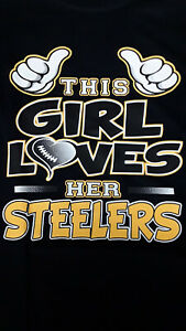 Pittsburgh Steelers-This Girl Loves Her-T-Shirt/Nice!