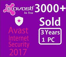Avast Internet Security Antivirus 2017 1 PC 3 Year