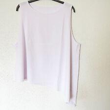 Ärmellose taillenlange Damenblusen, - Tops & -Shirts aus Baumwolle in Übergröße