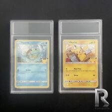 More details for pack of 2 empty trading card case/slab pokémon psa grading slab