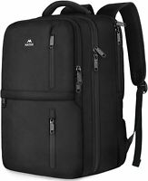 "Matein Men's Black 15.6"" Anti-Theft Carry-On Travel Laptop Backpack School Bag"