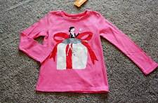 4 Size 4T Polar Pink Present Shirt Girls Christmas Holiday NWT NEW Gymboree