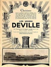 08 CHARLEVILLE USINES DEVILLE POELES CHAUFFAGE PUBLICITE 1926