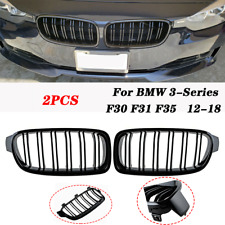 Front Bumper Grill Kidney Grille Dual Line For BMW 3-Series F30 F31 F35 2012-18