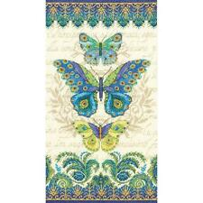 Counted Cross Stitch Kit PEACOCK BUTTERFLIES Blank Aida Cloth Dimensions