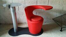 Mange Debout - Fauteuil rouge -Vintage, années 80 -Design - Esprit Memphis