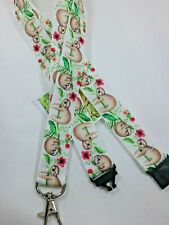 Sloth ribbon lanyard safety clip ID badge holder teacher student Christmas gift