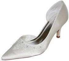 Hbh zapatos de novia de satén, con pedrería-y semipreciosas bordadas, aprox. párrafo 7cm