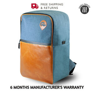 Skunk Urban Backpack Smell Proof & Weather Resistant with Lock - NAVY LEATHER
