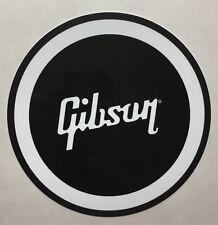 "Gibson Guitar 12"" Black and White Metal Sign"