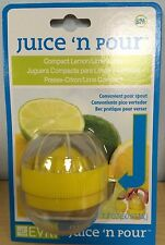 Juice N Pour Compact Juicer Squeezer Lemon/Lime Citrus Extractor Green or Yellow