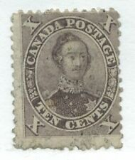 Canada 1859 10 cents brown Prince Albert lightly used