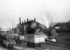 PHOTO  LOCO SHED GWR ABERYSTWYTH  IN 1950'S