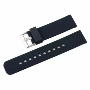 Asus Vivowatch Replacement Black 22mm Width Watch Wrist Band Silicone Rubber