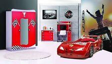 Jugendzimmer Redcar 6-teilig rot, Kinderzimmer Turbo, Autobett Komplettzimmer
