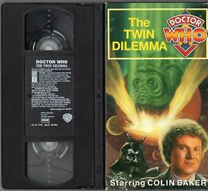 Doctor Who The Twin Dilemma VHS Colin Baker (Sixth Doctor)