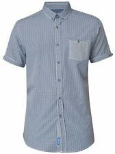 D555 Button Down Gingham Check Shirt With Patch Pocket (Hank)
