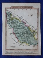Original antique map, NORTHAMPTONSHIRE, KETTERING, Wallis / Martin c.1819