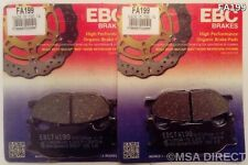 Yamaha XVS1300 Midnight Star (2007 to 2016) EBC Organic FRONT Brake Pads (FA199)