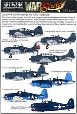 Kits World Decals 1/72 U.S. Navy & Marine Corps Markings Mid to Late War Period