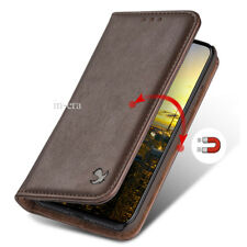 For Apple iPhone X Genuine Real Leather Flip Card Wallet Case Phone Cover BROWN