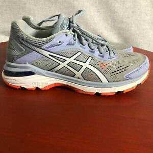 Asics GT 2000 7 Women's Size 7.5 Running Shoes Gray Blue Athletic Train Sneakers