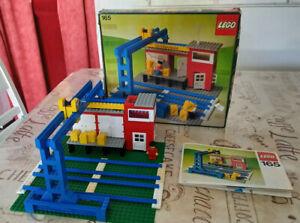 Lego 165 Güterbahnhof mit blauen Schienen