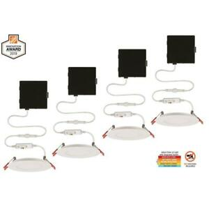 Commercial Electric Ultra Slim 4 in. Canless Recessed LED Kit 4-Pack