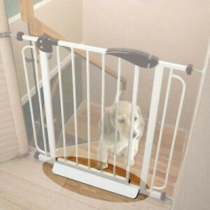 2xBaby Pet Gate Stair Way Safety Fixed Board For Door Extra-Wide Tall Lock Walk