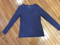 Ann Taylor Women's Shirt Top Long Sleeve Purple Size L