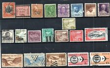 United States. Vintage To Modern Canal Zone. Selection Of 21 Different Stamps