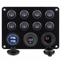 12V/24V Fusible Boîte LED Commutateur Panneau USB Chargeur Prise camion Bateau